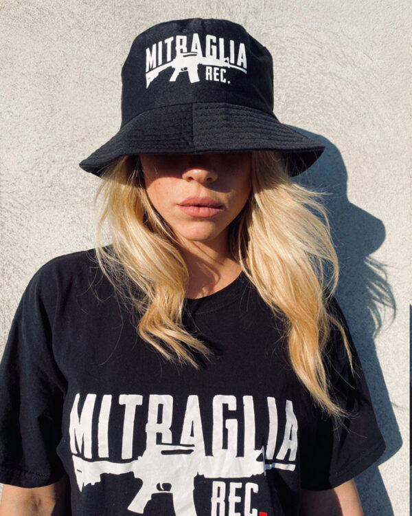 Mitraglia Rec. - Carolina Brizzi wearing the Official Black Hat, Product Shot
