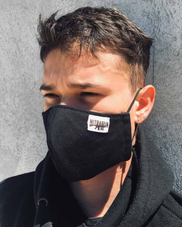 Mitraglia Rec. - B3nnaz wearing the Official Black Dust Mask, Product Shot