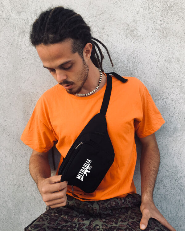 Mitraglia Rec. - Papa Fral wearing the Official Black Pouch, Product Shot