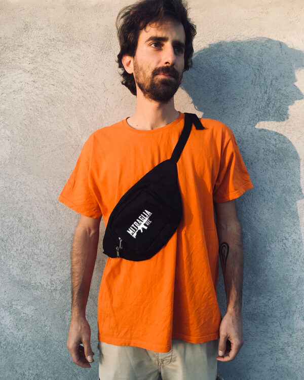 Mitraglia Rec. - Simon Leeu wearing the Official Black Pouch, Product Shot